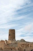 Old watchtower in Al Mudayrib, Oman, Middle East
