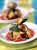 Eggplant and goat's cheese Aumoniere (thumbnail)