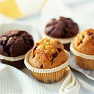 Chocolate muffins and chocolate chip muffins