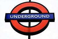 Underground station sign London England