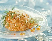 Salmon Tartare with ginger and lime