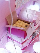 Box of jam cookies
