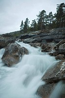 Raging river, Norway, Scandinavia, Europe