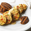 Mini Potato and Egg Omelets with Sausage Patties