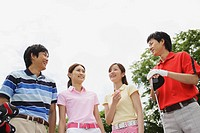 Group of Colourful Golfers