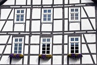 Half-timbered houses, Melsungen, Hesse, Germany, Europe