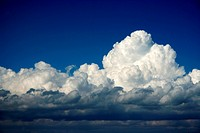 Big cloud on blue sky background 2