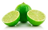 Ripe Sliced Lime Isolated on White