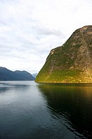 Fjord landscape in the Geiranger Fjord, UNESCO World Heritage Site, Norway, Scandinavia, Northern Europe