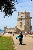Belem Tower (Torre de Belém) built by Francisco de Arruda, Lisbon, Portugal