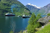 Boats in Geiranger Norway
