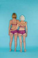 Two women modeling lingerie