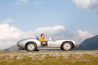 Porsche Devin Spyder, built in 1957, Nockalmstrasse, Ennstal Classic 2010 Vintage Car Rally, Groebming, Styria, Austria, Europe