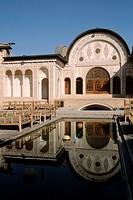 Iran, Esfahan province, Kashan, Khan-é Tabatabei traditional house,