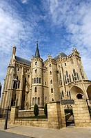 Episcopal Palace (1887-1893) by Gaudi, Astorga, Way of St James, Leon province, Castilla-Leon, Spain