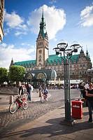Town Hall square in Hamburg