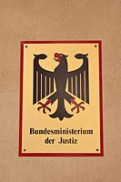 Sign, Bundesministerium der Justiz, German for Federal Ministry of Justice, Berlin, Germany, Europe