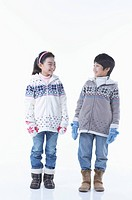 boy and girl wearing winter outer