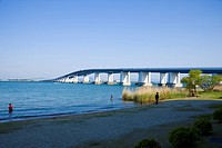 Lake Biwa Bridge, Otsu, Shiga, Japan