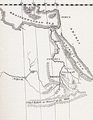 Map of the Nile Basin in 1819 AD  From In Darkest Africa by Henry M  Stanley published 1890
