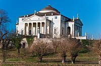 View over Villa Capra ´La Rotonda´ designed by Andrea Palladio, Vicenza, Italy