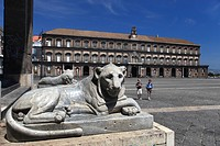 Italy, Campania, Naples, Plebiscito square, the Royal Palace
