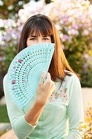 Young Woman with a Hand Fan.