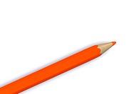 orange pencil. 3D