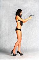 danger bikini sexy brunette