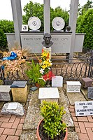 Cemetery, Memorial Fausto Coppi, Castellania, Piedmont, Italy