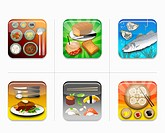 various types of food icon