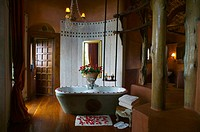 Bathroom interior, Ngorongoro Crater Lodge, Ngorongoro Conservation Area, Tanzania