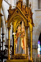 interior of basilica Notre-Dame-de-l´Eoine, L´´Epine, Champagne, France