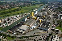Aerial view, Broeckelmann Broelio building development, oil mill, Hamm, Ruhr area, North Rhine-Westphalia, Germany, Europe