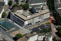 Aerial view, Heinrich-von-Kleist-Forum building, public library, Hamm adult education centre, Hamm, Ruhr area, North Rhine-Westphalia, Germany, Europe