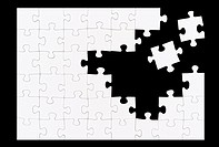 parts of jigsaw - symbolism for existential orientation resp  education