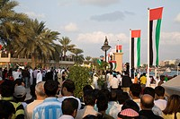 UAE, Dubai. Crowd participates in National Day celebrations. Credit: Bill Young / Jaynes Gallery / DanitaDelimont.com