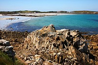 Beach, Pembroke Bay in the northeast of of Guernsey, Channel Islands, Europe