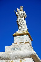 Statue of Madonna with child, Rambla Bay, Island of Gozo, Malta, Mediterranean Sea, Europe
