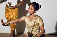 Apsara dancer, Siem Reap, Cambodia, Indochina, Southeast Asia