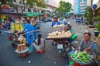 Ben Thanh Market. Ho Chi Minh City (formerly Saigon). South Vietnam.