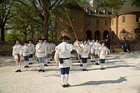 Drum and fife parade, Colonial Williamsburg Historic Area, Williamsburg, Virginia, United States NR