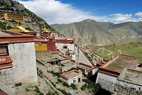 Ganden monastery near Lhasa, Tibet, China, Asia