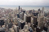 View over Chicago from Sears Tower, Chicago, Illinois, USA