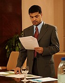 Businessperson working at the office