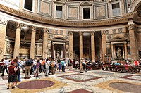 Details inside the Pantheon, Rome, Italy