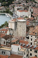 Croatia, Dalmatia, Split  Old city viewed from the campanile