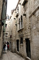 Croatia, Dalmatia, Split  Street in former Diocletian's Palace in old city
