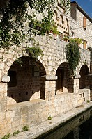Croatia, Hvar island, Stari Grad  Fortified summer residence Tvrdalj castle of croatian poet Petar Hektorovic 1487-1572