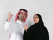 Arab Couple looking away